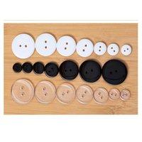 100-1000Pieces 2holes Branco Preto Resina Transparente Botões Para Roupas Needlework Crafts 9 10 11 15 18 20 23 25 mm W Jllbon