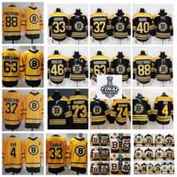 2021 Reverse Retro Boston Bruins 88 David Pastnak 37 Patrice Bergeron Chara Brad Marchand Rask Charlie McAVoy Dosk Orr Hockey Jerseys