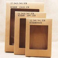 أبيض أسود كرافت ورقة مربع مع نافذة هدية مربع كعكة التعبئة والتغليف الزفاف هدية عيد حزمة مربع مع نافذة pvc ggb1981