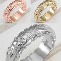 حلقات زهرة تعليق نحت سبيكة الفرقة النساء الذهب والفضة تصفيح حلقة الزواج هدية الأزياء والمجوهرات 1 5HJ L2