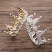 New Princess Headwear Chic Bridal Tiaras Accesorios Impresionantes Cristales Perlas Boda Tiaras y Coronas 12101