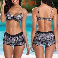 HobbyLane Mulheres Sexy Impressão Bra Shorts Bikini Set para Praia Piscina Natação11