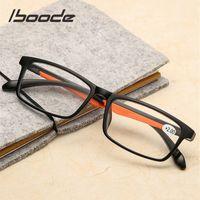 Iboode TR90 Ultralight Mujeres Hombres Realizados Retro Lente transparente Presbicia Glasses Femenino Male Lector Eyewear +1.5 2.0 3.0 4.0 4.0
