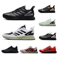 Bianco Black Mens ZX Sense Esegui 4000 Futurecraft Sports Scarpe Scarpe formatori Uomini ZX4000 Carbon Carbon Maschio Sport Trainer Sneakers all'aperto Dimensioni 40-45