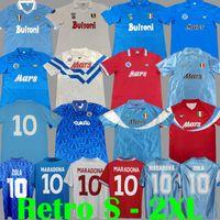 Vintage 1986 1987 1988 1989 1990 1991 1993 Napoli rétro Soccer maillots 87 88 Coppa Italia SSC Napoli Maradona 10 Zola Classic Napolitain Kit