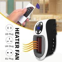 Aquecedores elétricos inteligentes 500W aquecedor de parede remoto quarto portátil plugue de aquecimento no mini fogão lar aquecedor de radiador1