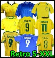 1998 Brasil Retro Soccer Jerseys 2002 Zico Shirts Carlos Romario Ronaldo Ronaldinho 2004 Camisa de Futebol 1994 Bebeto 2006 Kaka 1982