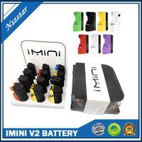 IMINI BATERIA 12 PCS na caixa de exibição Cartucho de óleo de espessura Baterias Immini V2 Kit 650mAh Acessórios de Loja de Vape Ajustável