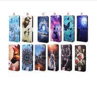 Karikatür Cüzdan Deri Kılıf Samsung A52 A72 5G A02S A12 A32 S21 Ultra 5g Çevirme Kayışı Standı Gül Çiçek Kaplan Kelebek Telefon Kapak Lüks
