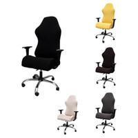 Silla de competencia de juegos elástica Cubiertas Oficina Internet en los hogares Cafe giratoria Apoyabrazos la silla del estiramiento Casos