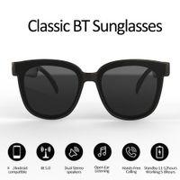 نظارات شمسية بلوتوث مع تقنية الأذن المفتوحة تجعل الأيدي مجانية استمتع بحرية مكالمات الهاتف المحمول اللاسلكية سماعات بلوتوث وأكثر من ذلك