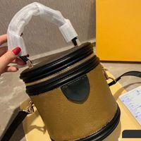 Сумки женские сумки мода верхний уровень кожаный бочка в форме сумки кошельки ремешок мода ведро сумка барабанная сумка одна ручка цилиндр мини-сумка