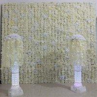 24pcs / серия 60X40CM молока белый пион роза дизайн стены цветка для венчания окна Backdrop Centerpieces Deocrations Бесплатная доставка