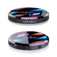 H96 MAX X3 Amlogic S905x3 Smart TV Box Android 9.0 8 كيلو ماكس 4 جيجابايت 64GB المزدوج واي فاي الوسائط لاعب مجموعة أعلى مربع يوتيوب