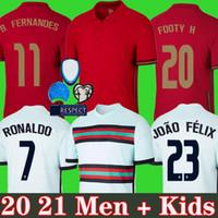 Ronaldo Soccer Jersey 20 21 b.fernandes Joao Felix Diogo J. Ruben Neves Bernardo كرة القدم قميص 2020 2021 المنتخب الوطني للرجال + اطفال موحدة