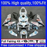 White blue Injection For HONDA CBR 600RR CBR600F5 CBR600RR 2005 2006 48HM.242 CBR600 RR 05-06 CBR 600 CC 600F5 600CC F5 05 06 OEM Fairing