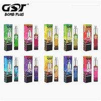GST Bomba Artı Sigara Tek Kullanımlık Cihazı 1200 mAh Pil 2500 Puffs Tedbir 7 ml Pod Kartuşları Vape Görünür Sıvı Rezervuar