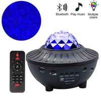 USB Su Desen Alev Işık Bluetooth Müzik Okyanus Yıldız Işıkları Projektör Işık Gece Lambası Lazer Su Desen Projektör Işık