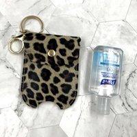Bottiglia di disinfettante in pelle stampa leopardo 60ml Hand Sanitizer Case CASE CASE Pendente