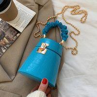 Crocodilo Pu couro balde saco pequeno saco crossbody moda corpo de ombro mulheres bolsas e bolsas de desenhista de luxo