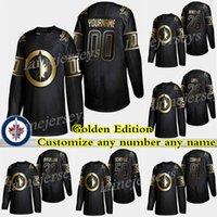 2019 Winnipeg Jets Golden Edition 29 Patrik Laine 26 Blake Wheeler 55 Mark Scheifele Personaliza cualquier número Cualquier nombre Hockey Jerseys