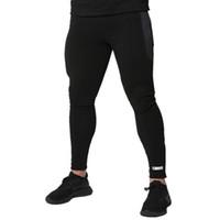Мужские спортивные штаны Casual Высокая талия Тонкие брюки с карманами Мужчины Joggers GYM Trackpants Тонкий Fit Брюки бодибилдингу Новый брюк