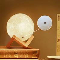 3D LED ноча волшебная луна светодиодный свет лунный светильник настольный ламп USB аккумуляторный 3D светлые цвета бесступенчатые для украшения дома рождественские огни