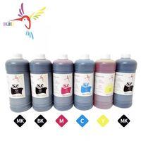 Kits de recharge d'encre 6 couleurs / set 1000 ml de colorant à base d'eau pour Canon IPF 810/820/815/825/650/655/750/755 / 500/510/600/610/605/700/710 Imprimante