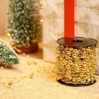 60m 크리스마스 트리 화환 구슬 갈 랜드 크리스마스 결혼 선물 포장 테이블 중심 촛불 케이크 새 해 장식 1