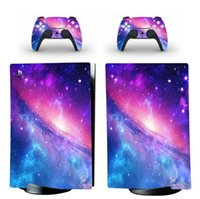 Galaxy Golden Style Sticker for PS5 Console and 2 Controller...