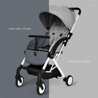 Cochecito de lujo Sistema de viaje plegable caminata ligera para recién nacidos Carragones para bebés Carriage1
