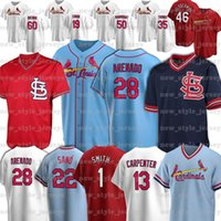 28 Nolan Arenado 46 Paul Goldschmidt 1 Ozzie Smith 4 Yadier Molina 25 Dexter Fowler Paul Dejong Bob Gibson Baseball Jerseys Zz