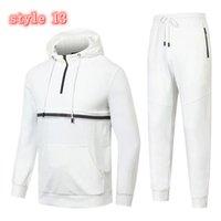 Neue Marke Trainingsanzug Mode Männer Sportswear Zwei Teile Sets Alle Baumwollfleece Dicke Hoodie + Hosen Sportanzug