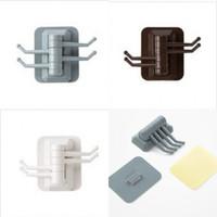 Drehen Haken Mehrzweckfestigkeit Viskose Halter Handtuch Kein Bohrkassettenklebungsbügel Badezimmerzubehör 1 8YL K2