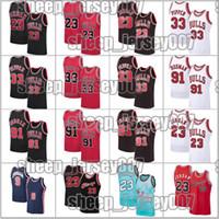 Chicago23 Michael Jersey Scottie 33 Pippen Dennis 91 Rodman Jersey Retro BullMaillot de basket