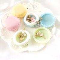 2020 Mini macaroon box di gioielli anello orecchino con borgo caramelle carino stoccaggio custodia contenitori plastica camera cucina cucina vendita calda 0 51ct L2