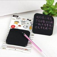 Schwarze klebrige Notizen mit Leuchtstoffstift Set Kawaii Schreibwaren klebrige Notizen Niedlichen Planer Aufkleber Memo Pad School Supplies1