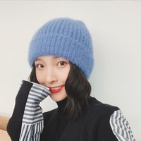 Korean Solid Color Knitted Hat Wool Autumn and Winter Ear Care Warm Lovely Beanies for Ladies Thanksgiving Streetwear Skullies