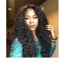 Cabelo malaio Curly Cabelo Humano Acessível Perucas De Laço Completo Natural Barato Humano Curly Curly Front Wigs Sem Cabelos Emaranhados