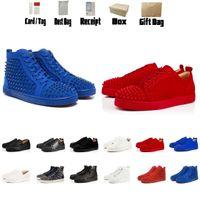 Designer di Lussurys Scarpe in pelle rossa in pelle da uomo in pelle da scarpe da donna scarpe da donna scarpe da ginnastica scarpe nere stivaletti piatti high top sneakers stivali taglia US5-US13