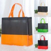 Unisex riutilizzabile quadrato shopping bag non tessuto pieghevole tote portatile borse alimentari sacchetti di stoccaggio convenienti borse da stoccaggio eco-friendly bag1