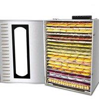 Dehidratorlar meyve kurutucu kurutulmuş makine ticari ev ve sebze çözünür fasulye kurutucu1