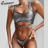 Snake Snake Bikini Sexy Sexy Sexy Swimwear Neon Swimwear Feminino Nova Corrente Banheira Banheira Brasil Biquini Mujer Y200319