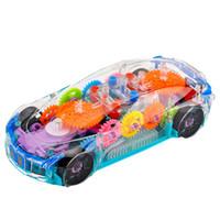 Diecast Model Arabalar Evrensel Tekerlek Dönüşüm Oyuncak Şeffaf Dişli Kavramı Araba Işıkları Müzik Oyuncaklar Çocuk Hediye