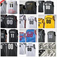 مخصص مطبوعة 13 Harden Kyrie 7 Durant Kevin 11 Irving Spencer 26 Dinwiddie Joe 12 Harris Caris 22 Levert Men كرة السلة الفانيلة