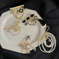 Luxus Perle Quaste Camellia Nummer 5 Brosche Mode Anzug Frühes Herbst Mantel Dekoration Corsage Broschen Zubehör