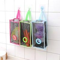 Висит типа хранения сумка проницаемая сетка кухонные мешки для мусора зеленые синие магазины хранилища Статьи экологически чистые 5 6rl l1