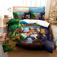 Juego caliente Crash Bandicoot 3D Impreso Edredón Conjunto de ropa de cama Edredón Conjuntos Funda de almohada Twin Full Reina King Ropa de cama Ropa de cama