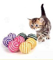 Sisal Ball Pet Katze Spielzeug Kratzfestes Schleifbare Ball Spielzeug Katze Catch Ball Funny Toy für 40mm WQ244