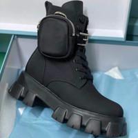 Hombres Rois Nylon Botas de combate Top Monolith Cuero Tobillo Martin Boot con bolsa de batalla Zapatos de goma Suela de goma Zapato grande Tamaño grande